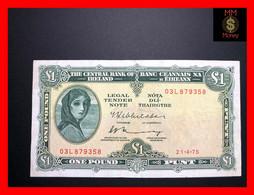 Ireland Republic  1 £  21.4.1975  P.  64   VF - Ireland