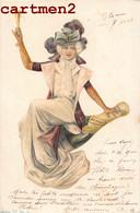 BELLE CPA : FEMME ILLUSTRATEUR VIN ALCOOL CHAMPAGNE ART NOUVEAU 1900 - Mujeres