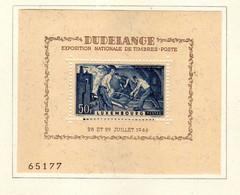 Luxembourg (1946) -Exposition Philatelique   -Neufs* - MH - Blocs & Feuillets