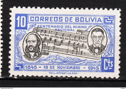 Bolivie, Bolivia, Musique, Music, Compositeur, Composer, Partition, Hymne National, National Anthem - Música