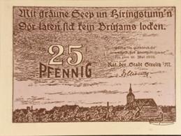 Sza.20 - Germany 1922 Notgeld Banknote 25 Pfennig Strelitz Grabowski/Mehl 1283.1-2/3 UNC - [11] Local Banknote Issues