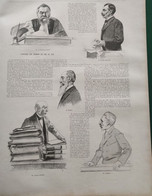 1895 L'AFFAIRE DES CHEMINS DE FER DU SUD - LE PRESIDENT DITTE - FELIX MARTIN - M. BOBIN - M. ANDRÉ - Ref: ILL Zurz D - Magazines - Before 1900