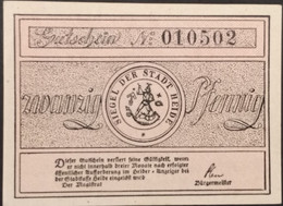 Sza.20 - Germany 1921 Notgeld Banknote 20 Pfennig Heidi Grabowski/Mehl 588.1a-1/3 UNC - [11] Local Banknote Issues