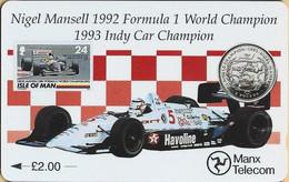 Isle Of Man - GPT, 23IOMA, Special Edition - Nigel Mansell, Formula One, 2 £, 11.000ex, 1993, As Scan - Isla De Man