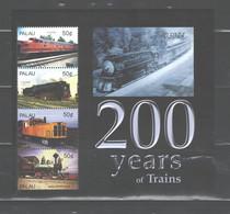 """PALAU  2004  """"TRAINS"""" MS.#784  MNH - Palau"""