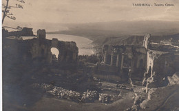TAORMINA-MESSINA-TEATRO GRECO-CARTOLINA VERA FOTOGRAFIA-VIAGGIATA IL 7-9-1936 - Messina