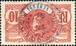 """SÉNÉGAL 1906 CàD En Bleu """" N'DANDÉ / SÉNÉGAL """" Sur Yv.34 10c Gal Faidherbe - TB - Used Stamps"""