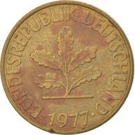 Monnaie, République Fédérale Allemande, 10 Pfennig, 1977, Stuttgart, TB+ - 10 Pfennig