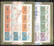 Grenada 1968 Summer Olympics Mexico City 2xMS MLH - Grenada (...-1974)