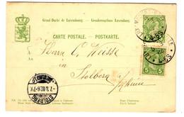 42433 - Entier   Pour L'Allemagne - 1895 Adolphe Profil