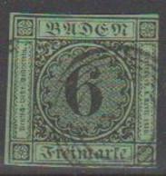 192/ Mi: 3b  ; Used;1852; Cat €  30.00 - Baden