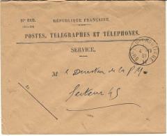 """4-11-39 -enveloppe Des P T T  Avec  Cad """"   BUREAU FRONTIERE  H  """"  ( 2ème Et 3ème Armée ) - Guerra De 1939-45"""