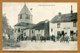 """PONT-LA-VILLE  (52) : """" LE CAFE DES AMIS - L'EGLISE """" - Other Municipalities"""
