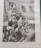 """1895 - LES RAPATRIÉS DE MADAGASCAR - ARRIVÉ DU """" SHAMROCK """" À ALGER - Ref: ILL Zure D - Magazines - Before 1900"""