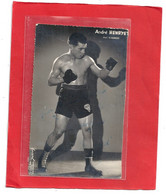 """CARTE-PHOTO . """" Andre  HENRYET """" BOXER De PARIS """" POIDS PLUME """" Prf :  G. HUMERY   DOS VIERGE - Boxing"""