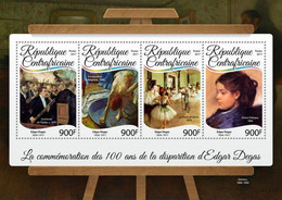 Central Africa 2017 Paintings Of Edgar Degas - Repubblica Centroafricana