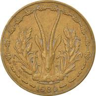 Monnaie, West African States, 10 Francs, 1980, TTB, Aluminum-Nickel-Bronze - Ivory Coast