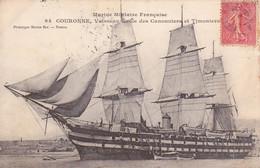 1907 BONE MARINE MILITAIRE FANCAISE...COURONNE,VAISSEAU ECOLE DES CANNONIERS ET TIMONIERS - Autres