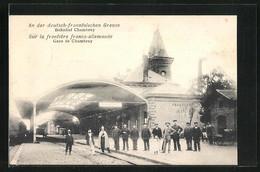 CPA Chambrey, La Gare An Der Deutsch-französichen Frontière - Unclassified