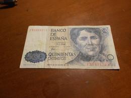 SPAIN     500 PESETAS    BILLET - [ 4] 1975-… : Juan Carlos I