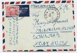 FRANCE N°676 + VERSO GANDON RARE POSTE AUX ARMEES TOE ° POSTE 222 1949 LETTRE AVION LEGIONNAIRE ZONE RUSSE ALLEMAGNE - Oorlog In Indochina En Vietnam
