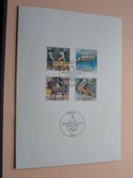 Erstausgabe 06.02.1992 Für Den SPORT ( OLYMPISCHEN SPIELEN '92 ) POSTDIENST Deutsche Bundespost ! - Cartes-Maximum (CM)