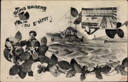 CPA Französisches Kriegsschiff, Matrose, 2er Depot - Non Classés