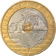 Monnaie, France, Mont Saint Michel, 20 Francs, 1992, Paris, SUP+, Tri-Metallic - L. 20 Franchi