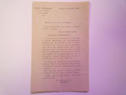 2021 - 429  Comité Républicain De L'arrondissement D'OLORON  (64)  :  Au Sujet D'une Lettre De Louis BARTHOU  1891   XXX - Unclassified