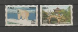 FRANCE / 2009 / Y&T SERVICE N° 144/145 ** : UNESCO (Ours Polaire & Ponts Et Jardins De Suzhon) X 1 Paire - Nuovi