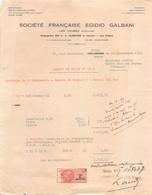 35-1742   1943 SOCIETE FRANCAISE EGIDIO GALBANI A PARIS - M. REMOND A SAINT JEAN DE SAUVES - 1900 – 1949