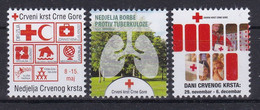 Montenegro 2016 Complete Tuberculosis TBC Red Cross Croix Rouge Rotes Kreuz Cruz Roja Tax Charity Surcharge MNH - Rotes Kreuz