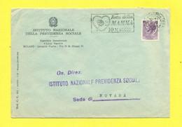 TARGHETTE-STORIA POSTALE-ANNULLI A TARGHETTA-ISOLATI SU CARTOLINA-MARCOFILIA-SIRACUSANA-EVENTI-FESTA DELLA MAMMA-MILANO - 1961-70: Poststempel