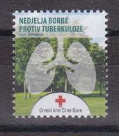 Montenegro 2016 Tuberculosis TBC Red Cross Croix Rouge Rotes Kreuz Cruz Roja Tax Charity Surcharge MNH - Rotes Kreuz