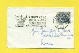 TARGHETTE-STORIA POSTALE-ANNULLI A TARGHETTA-ISOLATI SU BUSTA-MARCOFILIA-SIRACUSANA- - 1946-60: Poststempel