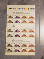 HUTT RIVER PROVINCE PRINCIPALITES OF THE WORLD 1990 /6 COMPLET SETS  PERFORED MNH FOLDED IN HALF - Sin Clasificación