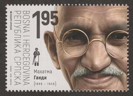 Bosnia Serbia 2019 150 Years Birth Mahatma Gandhi Famous People India Stamp MNH - Bosnia And Herzegovina