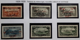 ALAOUITES Série De 1925 N° 35 à 40** (qqs*) (90) - Neufs