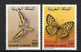 1982 - N° 921 à 922* MH - Papillons - Marruecos (1956-...)