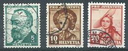 Suisse YT N°354-355-356 Pro Juventute 1940 Oblitéré ° - Used Stamps