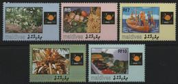 Malediven 1998 - Mi-Nr. 3117-3121 ** - MNH - Landwirtschaft / Agriculture - Malediven (1965-...)
