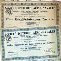 Occasion: 2 X Études Aéro-Navals - Aviazione