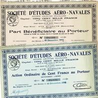 Lot: 2 X Société D'Études Aéro-Navals - Aviazione