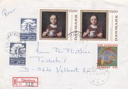 Denmark Registered Cover Posted STjæreborg 1990 (G77-11) - Cartas
