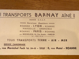 1 BUVARD BARNAY - Transportmiddelen