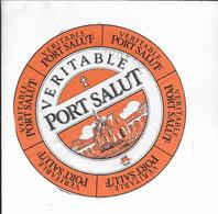ETIQUETTE  DE  FROMAGE  18 CM  VERITABLE PORT SALUT SAFR - Cheese