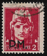 Regno D' Italia - POSTA MILITARE- 1943- Valore Usato Da L. 2 Con Soprastampata La Dicitura P.M - In Ottime Condizioni. - Military Mail (PM)