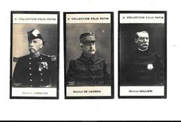 CN13 - CHROMOS  FELIX POTIN 2ème COLLECTION - GENERAL LANGLOIS - GENERAL GALLIENI - GENERAL DE LACROIX - Félix Potin