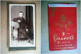 PHOTO CDV 19 EME Jeune Garcon  MODE Cabinet CHAPUIS A MAUBEUGE - Old (before 1900)