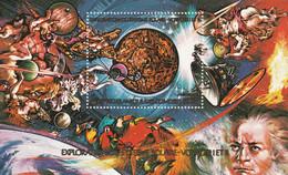 COMORES - DENTELE - BLOC N°200 ** (1979) Espace - Comoros